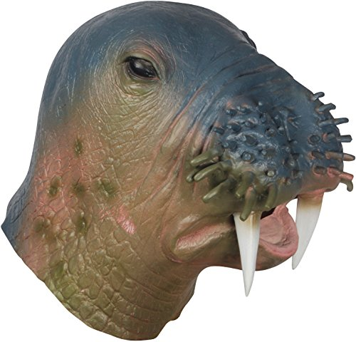 Loftus Halloween Walrus Costume Full Head Mask, Blue Brown, One Size