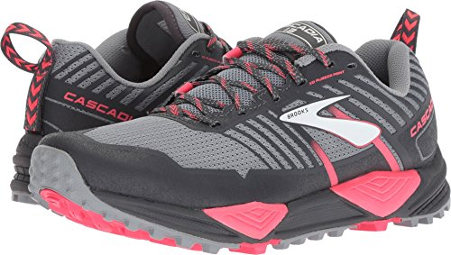 Brooks Women's Cascadia 13 Grey/Grey/Pink 6 B US