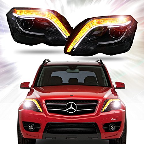 Win Power 2013-2016 Mercedes Benz GLK260 GLK280 GLK300 GLK350 Bifocal Projector Lens Headlight Assembly With Ballast And Bi-Xenon Bulb (1 - Lighthouse Lens For Sale