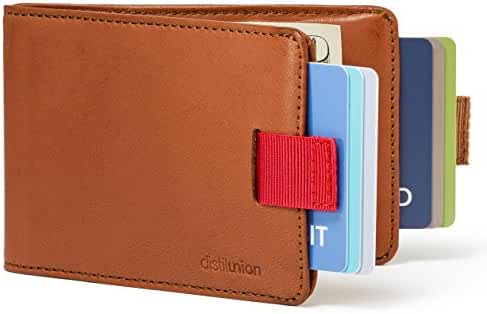 Distil Union Wally Bifold - Slim Genuine Leather Wallet for Men with Money Clip