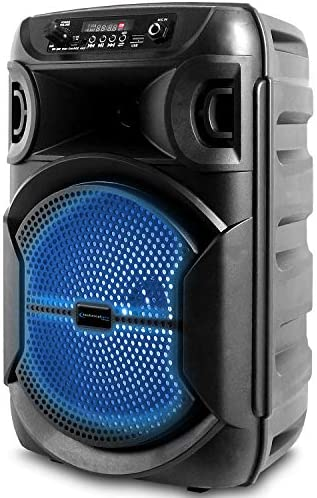 Technical Professional 8 Inch Transportable 500 watts Bluetooth Speaker with Woofer & Tweeter, Pageant PA LED Speaker with Bluetooth/USB Card, True Wi-fi Stereo, 30 Ft Bluetooth Vary