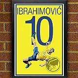 Zlatan Ibrahimović Poster - Sweden Soccer Art