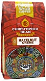 Christopher Bean Coffee Ground Flavored Whole Bean Coffee, Hazelnut Creme, 12 Ounce