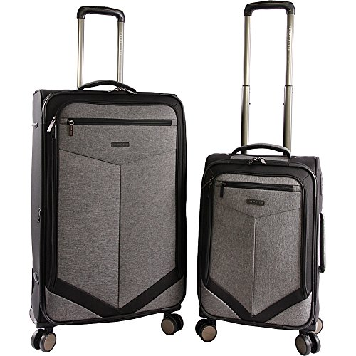 Perry Ellis Expandable Suitcase Crosshatch