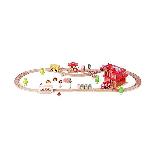 HXGL-juguete de coche Pista de Madera para niños, Juguete ...