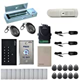 Visionis FPC-5344 One Door Access Control Outswinging Door 1200lbs Maglock with VIS-3002 Indoor use only Keypad/Reader Standalone no software em card compatible 500 user Wireless Receiver with PIR Kit