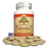 Dinovite Supplement Best Deals - Skin and Coat Supplement for Dogs and Cats - Fish Oil for Dogs Fatty Acids, Vitamins, Amino Acids, Minerals & Omega 3 for dogs -Relieve Dog Dry Skin Itchy Dog Hot Spots & Shedding -60 Nutritional Tabs