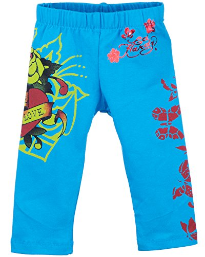 Ed Hardy Little Girls' Toddlers Eternal Love Leggings - Turquoise - 3/4