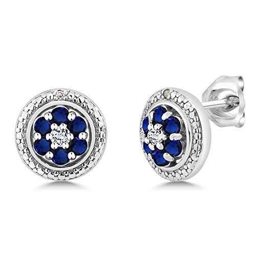 Diamond 925 Sterling Silver Earrings - 9
