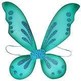 KWC - Pixie Fairy Wings Tinkerbell Princess Tutu Dress up Costume (Turquoise)