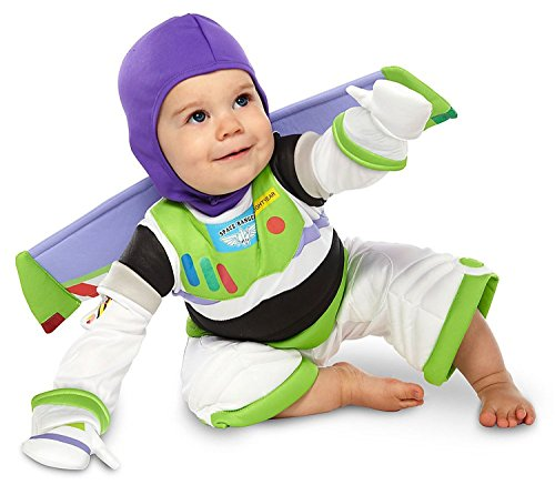 Disney Deluxe Buzz Lightyear Toy Story Costume for Baby Boys Toddlers 6 - 12 Months (Disney Buzz Lightyear Costume)