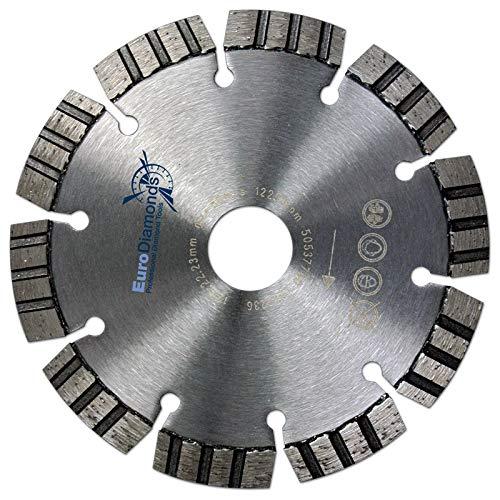 estremamente schnittfreudig e durata tegole cemento armato universale Disco diamantato D = 125/mm granito calcestruzzo H 22,23 Flex Disco Profi Disco diamantato laser turbomm muratura