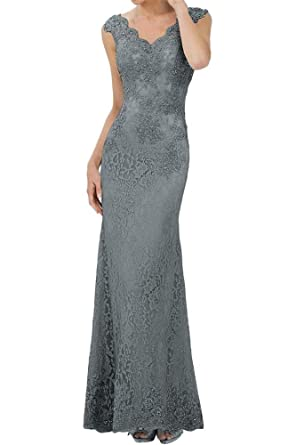 9bbc223fdee LanierWedding V-Neck Beaded Mother of The Bride Dresses Long Mermaid Evening  Dresses Dark Grey