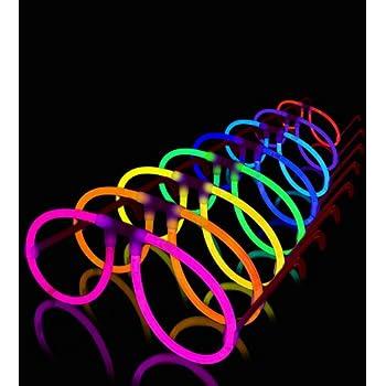 50 Aviator Lumistick Glow Eyeglasses - 8 Color Assorted Mix