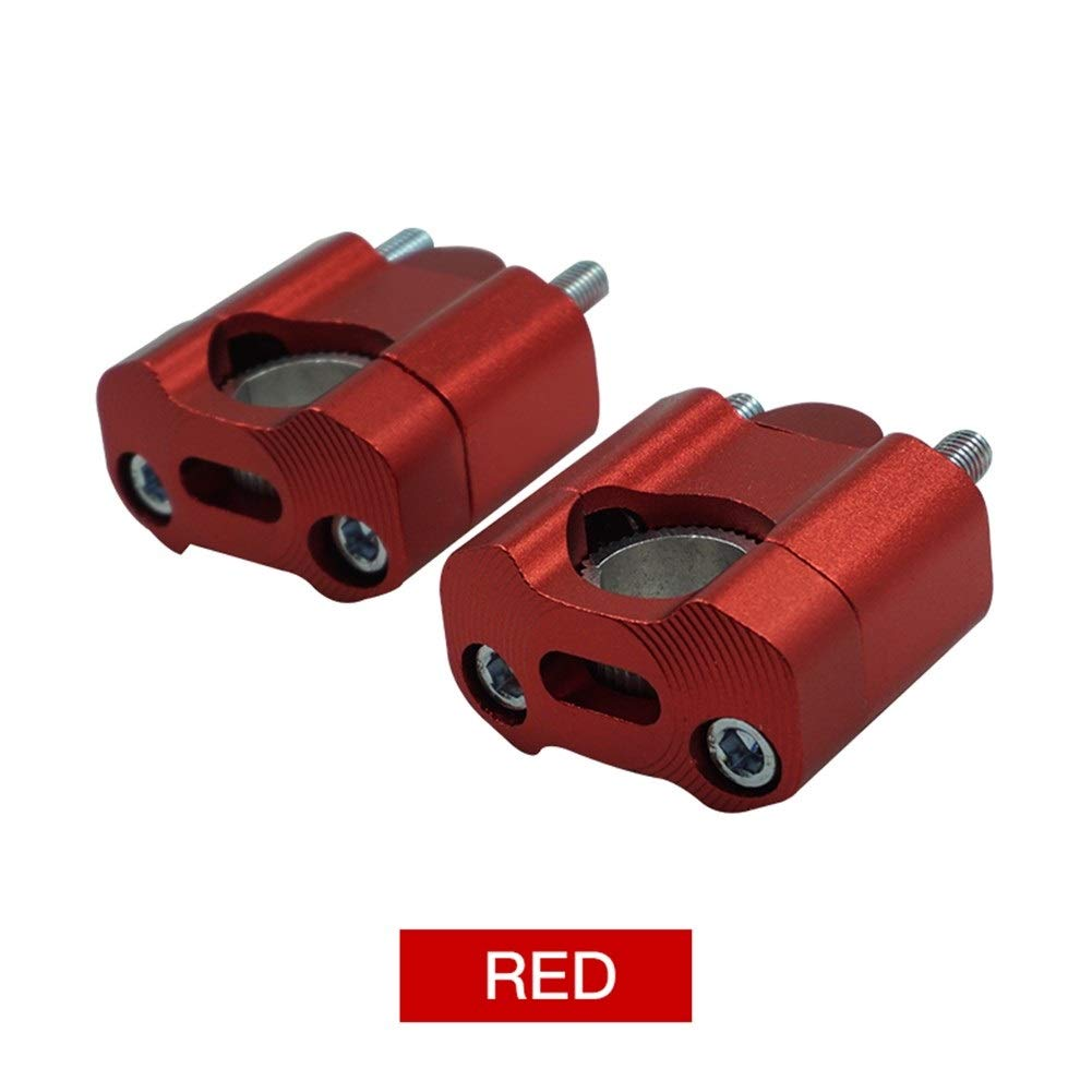 CONGCASE Motorcycle 22mm 28mm CNC Aluminum Handlebar Risers Adjustable Fat Bar Clamps Universal for KTM YZF 7/8'' 1-1/8 Dirt Pit Bike (Color : Red)