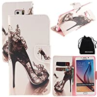 DRUnKQUEEn S6 Edge Case, PU Leather Credit Card Holder Case Stand Feature Wallet Type Flip Folio Cover - for G925 Samsung Galaxy S6Edge