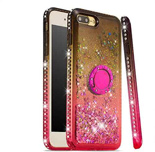 Lomogo Case for iPhone 8 Plus / 7 Plus Glitter Silicone, Shockproof Soft Rubber Bumper Case Non-Slip Back Cover Thin Fit for Apple iPhone 7Plus / 8Plus - LOYBO490041 Ring #4