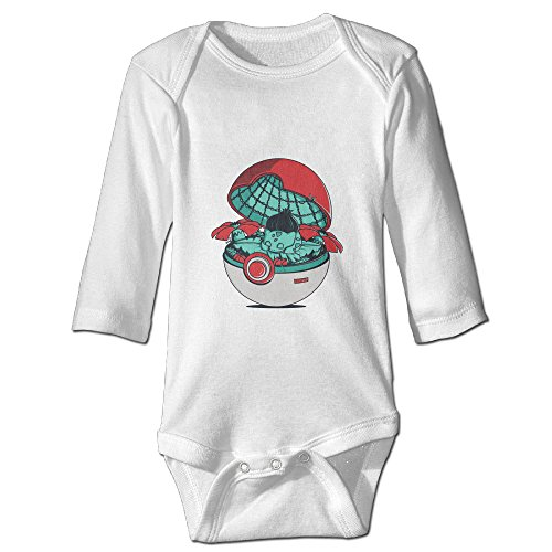 Raymond Green Pokehouse Long Sleeve Baby Climbing Clothes White 18 Months