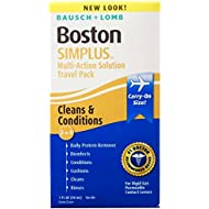 Bausch + Lomb Boston Simplus Multi-Action Solution Travel Kit, 1 Lense Case & 1 Ounce Bottle of Solution (Pack of 3 Kits)