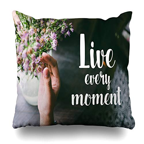 Ahawoso Throw Pillow Cover Square 18x18 Wisdom Life Quote Motivation On Abstract Writing Every Love Agriculture Artistic Attempt Design Script Pillowcase Home Decor Cushion Case