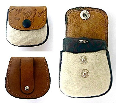 14f2ef6ace3 Amazon.com  Coin Pouch - Coin Purse - Leather Pouch - Belt pouch - Leather  Coin pouch to wear in a Belt - Genuine Leather Pouch with Cow Fur.  Handmade