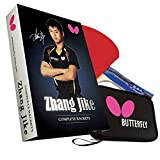 Butterfly Zhang Jike Box Set - Professional Ping Pong Paddle and Ping Pong Paddle Case Table Tennis Racket by Former World Champion Zhang Jike