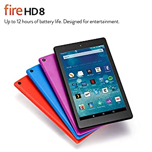 "Fire HD 8 Tablet, 8"" HD Display, Wi-Fi, 16 GB (Black) - Includes Special Offers (Previous Generation)"