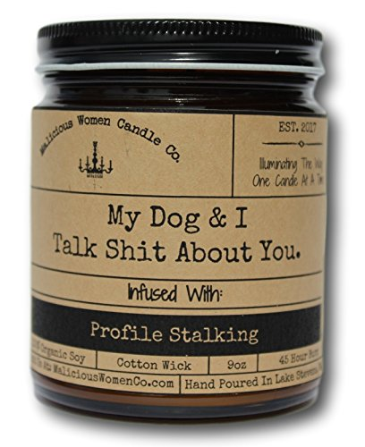 Malicious Women Candle Co – My Dog & I Talk Shit About You, Lemon & Rosemary Infus ...