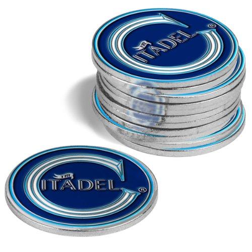 Citadel Bulldogs Golf Ball Markers (4 Pack)