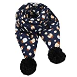 Nice Children Knitting Scarf Winter Scarf With Hairball