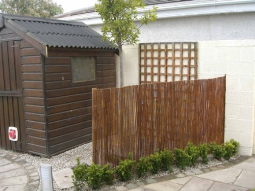 Master garden products willow fence screen 6 by 14 feet for Master garden products