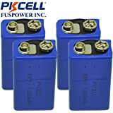 9V 1200mAH Lithium Battery for Smoke Detectors Pack of 4