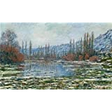 Perfect effect Canvas ,the Amazing Art Decorative Canvas Prints of oil painting 'Melting of Floes at Vetheuil, 1881 By Claude Monet', 24x40 inch / 61x101 cm is best for Bar decor and Home artwork and Gifts