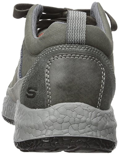 Skechers USA Mens Bursen Hecton Lace-Up Sneaker Charcoal D1yYS