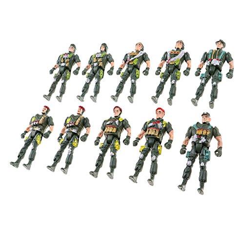 Baosity 10個 兵士モデル アクションフィギュアモデル 戦争ゲームアクセサリー 子供 おもちゃ 贈り物 全2選択 - スタイル2