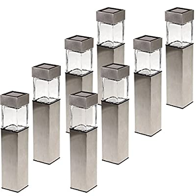 GreenLighting Stainless Steel Solar Rectangular Bollard Pathway Light
