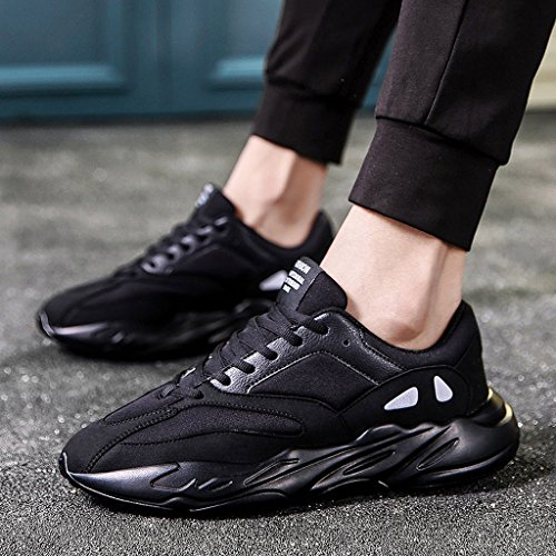 Herren Winter Outdoor Schuhe Casual Fashion Sneaker Hi-Top Trainer Schuhe 38-44 Black