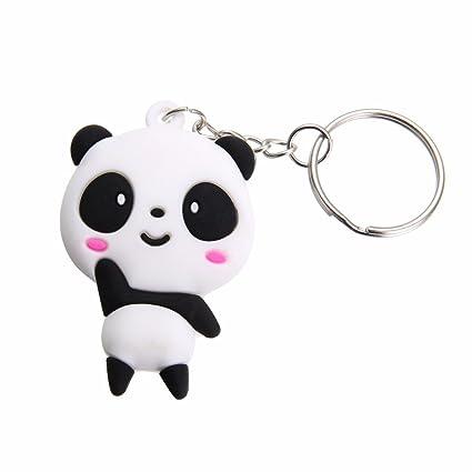 Dylandy llavero llavero con diseño de panda, llavero de ...