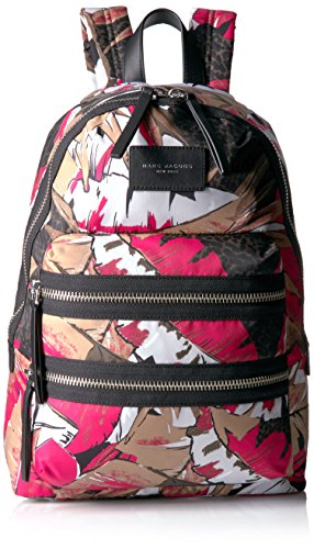 Marc Jacobs Women's Palm Printed Biker Backpack, Pink/Multi