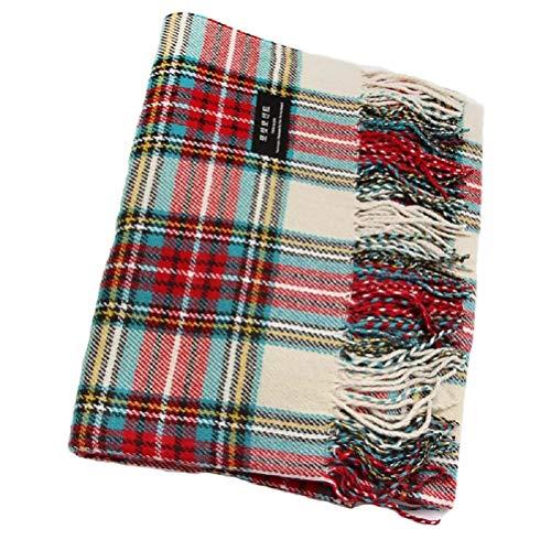 Samanthajane pour homme en laine pour femme Motif tartan écossais carreaux  Grande Châle Pashmina Écharpe rouge bleu, Bleu, Length 220 x 78cm   Amazon.fr  ... 30981f2507f