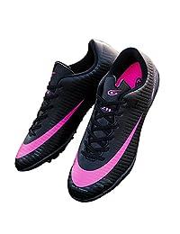 Kids Turf TF Soccer Shoes Indoor Football Training Fusal Shoes Black 32726-Hei-1.5US/32