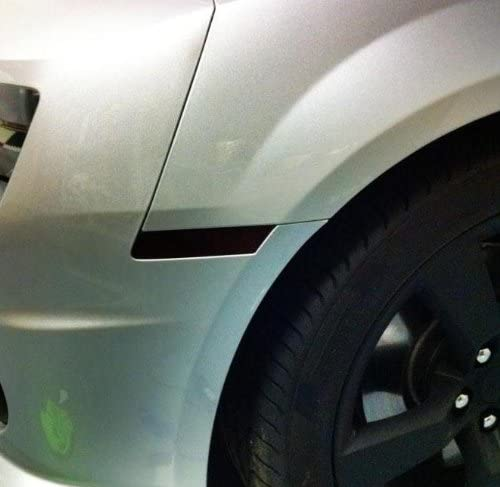 2014 2015 Subject 9 Dark Fits: Camaro Pre-Cut Vinyl Overlay Headlight Plus Tint