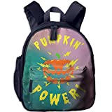 Pumpkin Power Classic School Backpack Bookbag Schoolbag For Kids