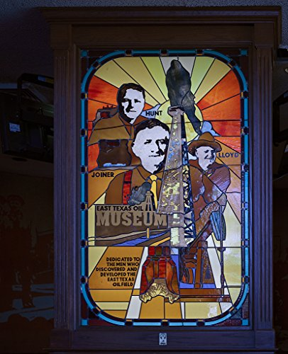 Frame of Stained-glass tribute to Texas oil pioneers H.L. Hunt