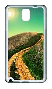 Winding Country Road Custom Design Samsung Galaxy Note 3 / Note III/ N9000 Case Cover - Tpu - White
