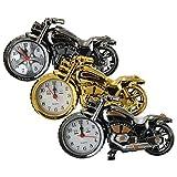 Pink Lizard Creative Plastic Motorcycle Motorbike Quartz Alarm Clock