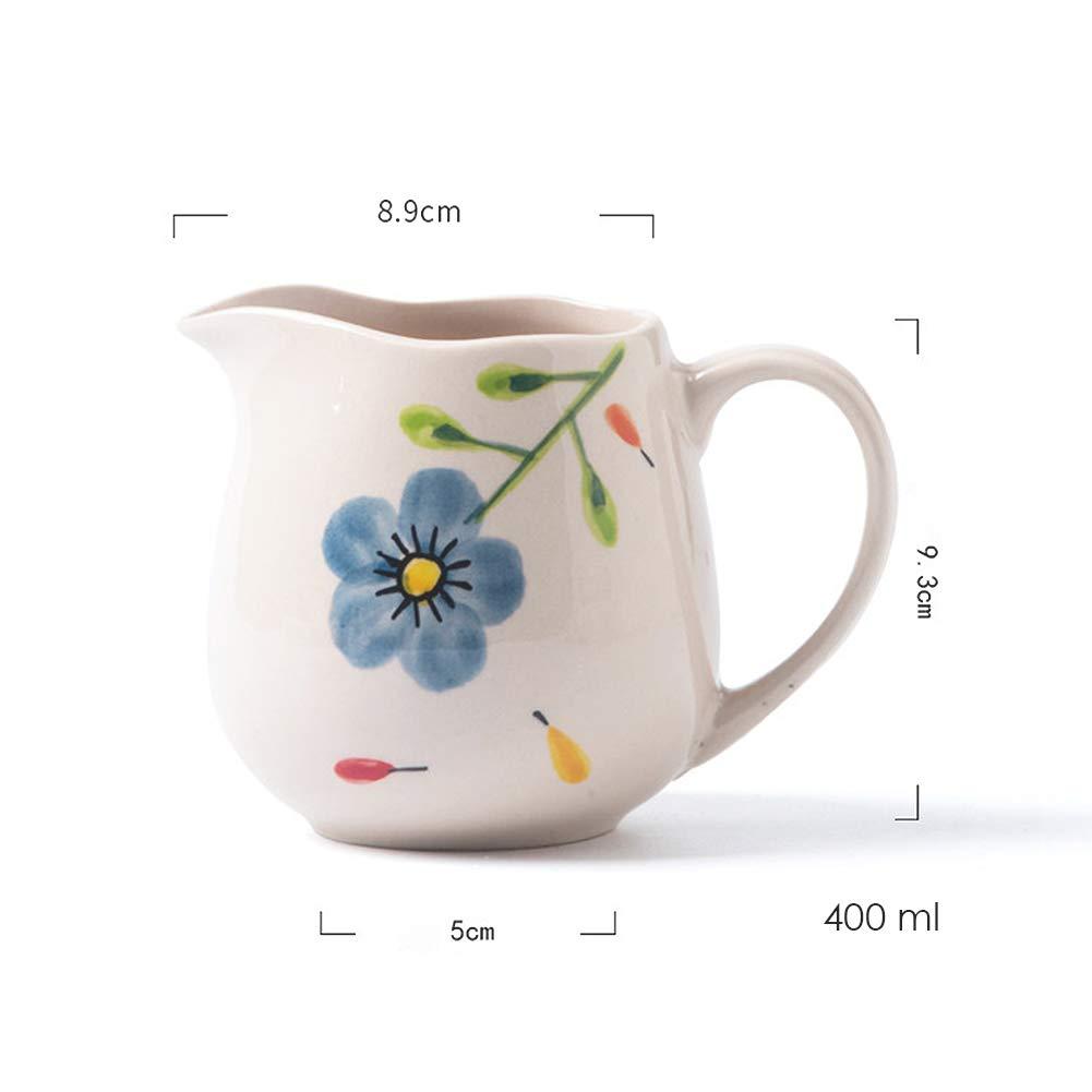 BlueFlower jarra de cerámica para café con leche, jarra para pulir ...