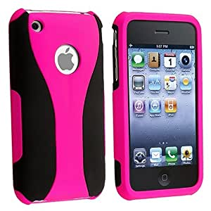 Amazon.com: Pink 3PIECE Hard CASE Cover for iPhone? 3G 3GS