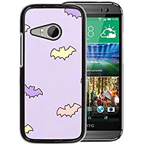 A-type Arte & diseño plástico duro Fundas Cover Cubre Hard Case Cover para HTC ONE MINI 2 / M8 MINI (Bat Kids Wallpaper Baby Mother Purple)