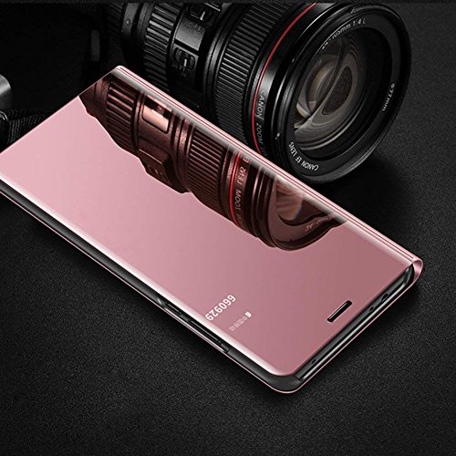 iPhone Coque Coque Flip Case iPhone pour iPhone Protection XS pour Herbest Housse Coque XS X iPhone Housse iPhone Miroir X en de Folio XS Femmes en Galvano Rose Or Protection Cuir Cuir X iPhone de Hommes Etui TXvXr6waxq